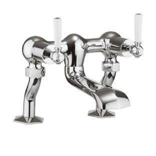Crosswater - Waldorf Lever Bath Filler (White Lever) - WF322DC_LV